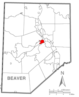 Map of Beaver, Beaver County, Pennsylvania Highlighted.png