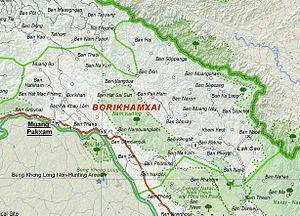 Bolikhamsai Province - Image: Map of Bolikhamsai Province, Laos