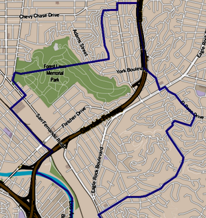 Glassell Park, Los Angeles - Image: Map of Glassell Park, Los Angeles, California