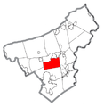 Map of Lower Nazareth Township, Northampton County, Pennsylvania Highlighted.png
