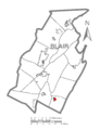 Map of Martinsburg, Blair County, Pennsylvania Highlighted.png