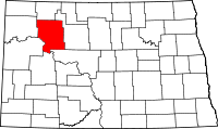 Map of North Dakota highlighting Mountrail County.svg