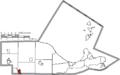Map of Ottawa County Ohio Highlighting Elmore Village.png