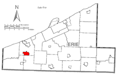 Map of Platea, Erie County, Pennsylvania Highlighted.png