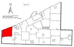 Map of Springfield Township, Erie County, Pennsylvania Highlighted.png