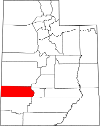 Map of Utah highlighting Beaver County
