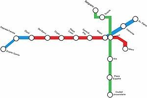 Córdoba Metro - The first proposed routes.