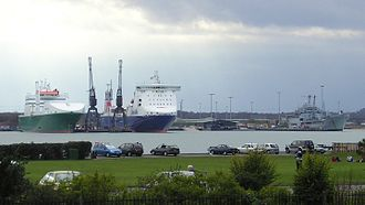 Marchwood - Marchwood military port in 2004 viewed from Southampton