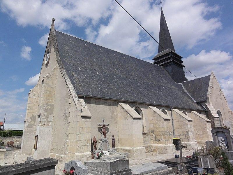 Marest-Dampcourt (Aisne) église à Marest