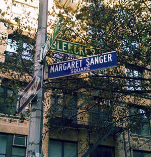 English: Margaret Sanger Square is the leafy i...