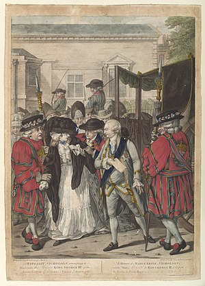 Margaret Nicholson - Margaret Nicholson's attack on George III, as depicted in a contemporary print
