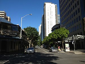 Margaret Street, Brisbane - Margaret Street from Edward Street intersection.