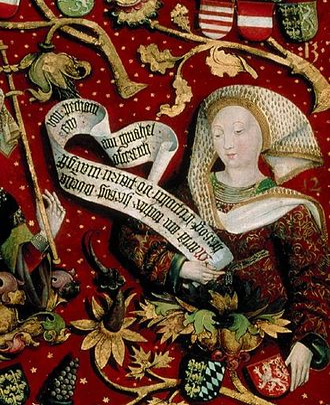 Maria of Bohemia - Portrait in the Babenberg pedigree, Klosterneuburg Monastery