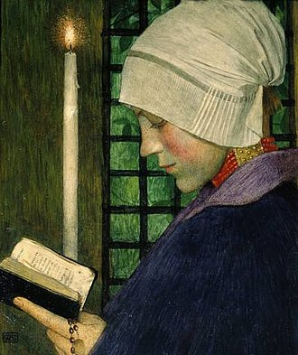 Christian meditation - Image: Marianne Stokes Candlemas Day