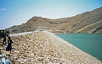 Marib Dam - The current dam in 1986