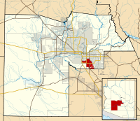 Maricopa County Incorporated and Planning areas Chandler highlighted.svg
