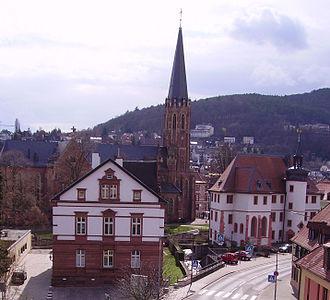 Casimirianum, Neustadt - Casimirianum (right of the Marienkirche)
