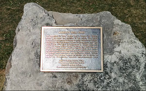 Marilyn Bell - Dedication plaque for Marilyn Bell Park