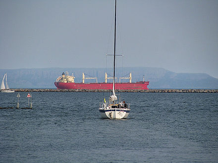 A big bulk carrier, off the shore of Thunder Bay. Marina park4, Thunder Bay by Richard Ogima.jpg