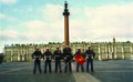 Marine Security Guards pose in front of the Alexander Column in Palace Square in Saint Petersburg, Russia in 1998. (42124811670).jpg