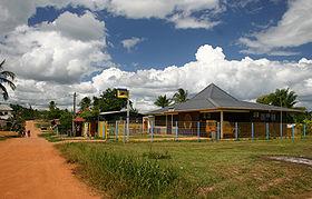 Vue du bureau de poste de Maripasoula