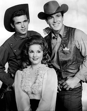 Johnny Ringo (TV series) - Mark Goddard as Cully, Don Durant as Johnny Ringo and Karen Sharpe as Laura Thomas (1959)