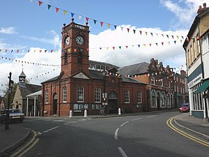 Kington, Herefordshire - Image: Market House and clock tower, Kington geograph.org.uk 1467144