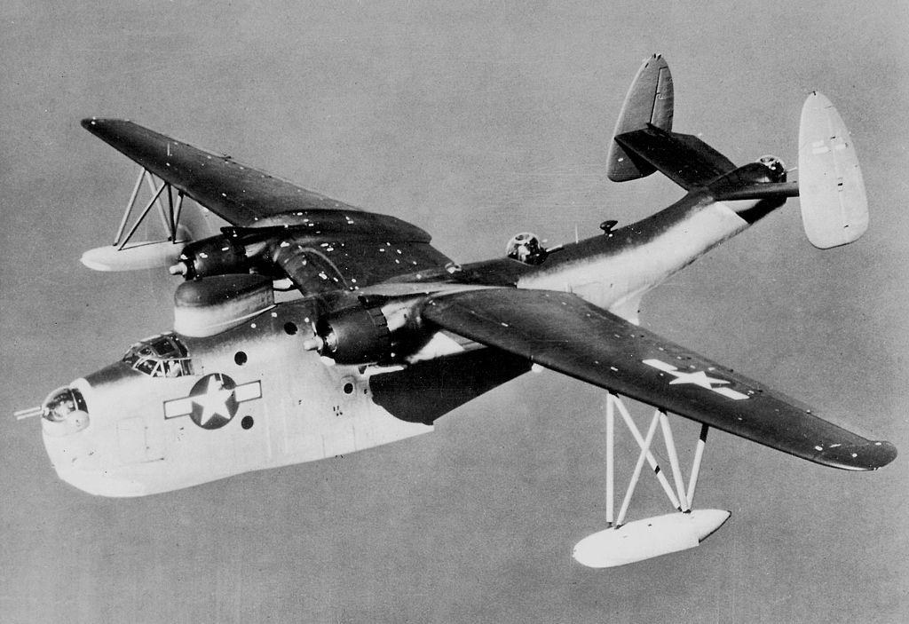 Martin PBM-5 Mariner in flight c1945