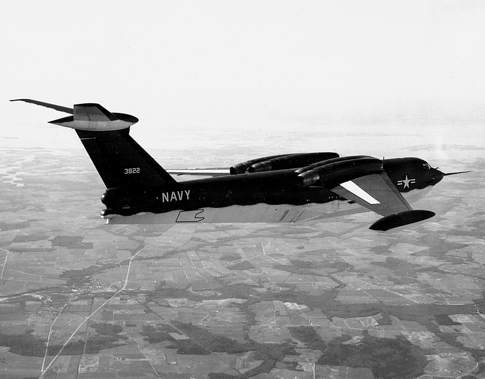 Martin YP6M-1 Seamaster in flight
