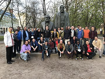 Marx & Engels - Wikimedia Conference 2017 sightseeing tour.jpg