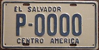 Vehicle registration plates of El Salvador El Salvador vehicle license plates