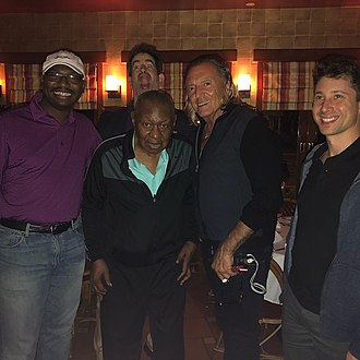 Freddy Cole - Recording session, The Book of Leah, Tracy Cole, assistant to Freddy Cole, Charlie Matthau director, Freddy Cole vocalist, Armand Assante actor, Randy Napoleon songwriter and guitarist