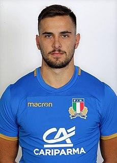 Mattia Bellini Italian rugby union player