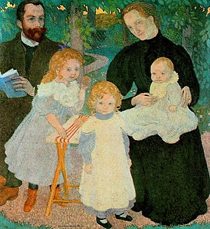 André Mellerio - André Mellerio in The Mellerio Family by Maurice Denis, 1897. Oil on canvas. Musée d'Orsay, Paris.
