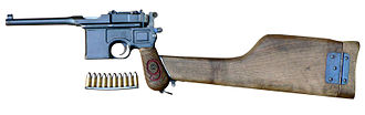 "Mauser C96 - ""Red 9"" Mauser C96 (9x19mm Parabellum) with stock"