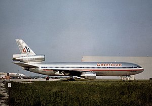 American Airlines Flight 191 - N110AA, the aircraft involved in the accident, photographed in 1974 at Chicago O'Hare Int'l Airport