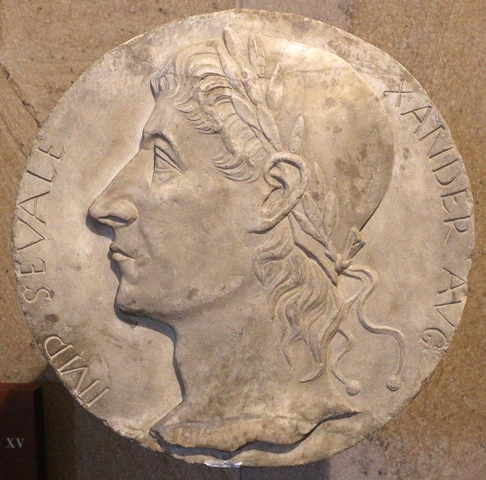 Medaglione con effigie di alessandro severo, 1490 ca
