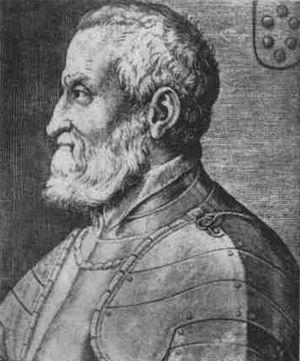 Gian Giacomo Medici - Gian Giacomo Medici, Il Medeghino, in a 16th-century engraving