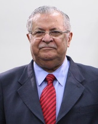 Jalal Talabani - Image: Meetings of Presidents participated in Nowruz with Ali Khamenei Tehran, Iran (Cropped on Talabani)