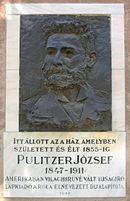Memorial tablet Pulitzer József.JPG