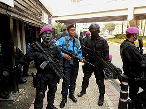 Eastern Sabah Security Zone - Navy PASKAL operatives are stationed on board the Bunga Mas Lima.