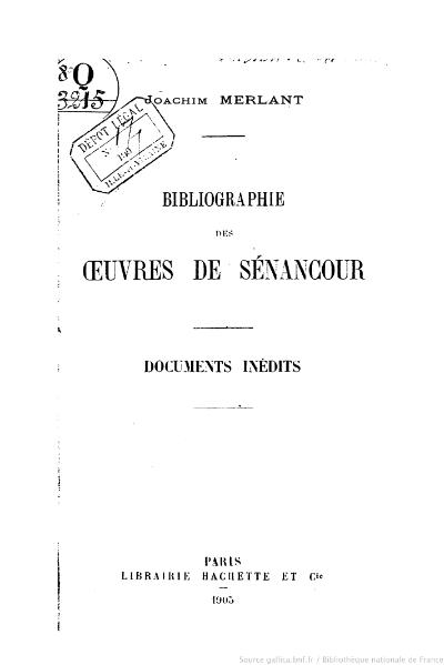 File:Merlant - Bibliographie des œuvres de Senancour, 1905.djvu