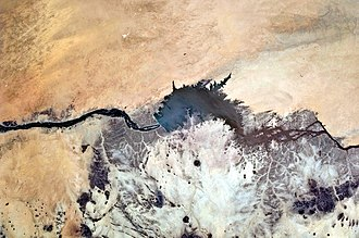Merowe Dam - Astronaut photograph of Merowe Dam