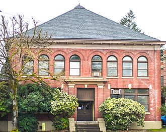 Merryfield Hall - The building's exterior in 2017