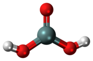 Ball-and-stick model of the metasilicic acid molecule