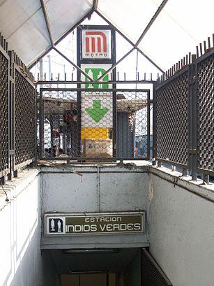 Cómo llegar a Metro Indios Verdes en transporte público - Sobre el lugar