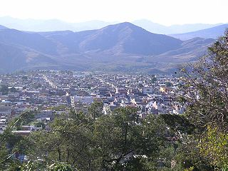 Zitácuaro city in Michoacán, Mexico