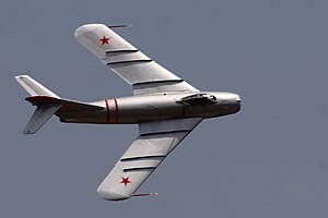 Wing fence - The MiG-17 included prominent wing fences