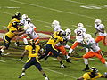 Miami on offense at 2008 Emerald Bowl 15.JPG
