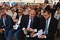 Michael Schudrich rabin Polski i Dawid Szychowski rabin Łodzi (z prawej) na uroczystości 75 rocznicy likwidacji Litzmannstadt Getto 2019 na Stacji Radegast fot M Z Wojalski 09739.jpg